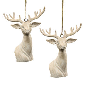Xmas Resin Hanging Deer Ornament from China (mainland)