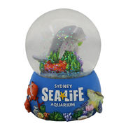 China High quality OEM Water Globe with glitter inside,Beach snow globe for Souvenir &Promotional Gifts