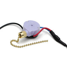 3 Speed Pull Chain Switches for Fans Industry with Piano Wire Spring, Made of Plastic