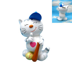 Cute Polyresin Cat Figurine from China (mainland)