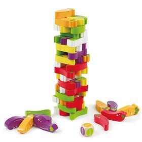 Kids' wooden jenga game