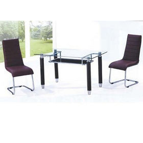 Modern glass dining table from China (mainland)