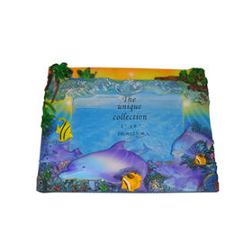 China Decorative Swimming Dolphins Desktop Picture Frame