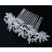 Top Bead Crystal Silver Plated Tiara Flower Combs from China (mainland)