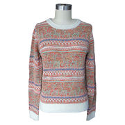 Ladies' crew neck pullover from China (mainland)