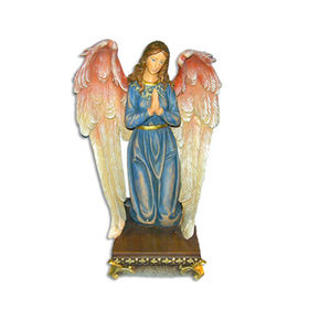 Praying Angel Kneeling on Pedestal Statue Manufacturer