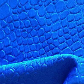 Stone shapes 3D embossed scuba knitting fabric for fashion garment
