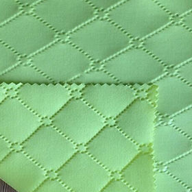 Diamond 3D embossed scuba knitting fabric for ladys' garment