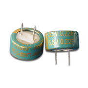 5.5V C-type Supercapacitors with RoHS/CE Marks and 0.22F Capacity from Shandong Goldencell Electronics Technology Co. Ltd