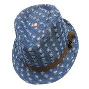 Washed Denim Fedora Hat from China (mainland)