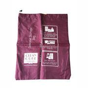 Drawstring polyester laundry bag from China (mainland)