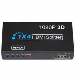 China 1 x 4 Ports HDMI Splitter, Supports 80p, 720i, 720p, 1080i and 1080p Resolution