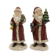 El sistema de la decoración de la Navidad de 2 estatuillas de Papá Noel, hecho de Polyreisn, más diseños está disponible