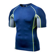 China Men's cool compression short sleeve T shirt
