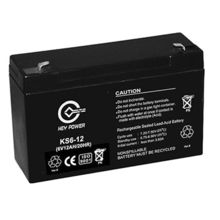 China 6V/12Ah Rechargeable Lead-acid Battery