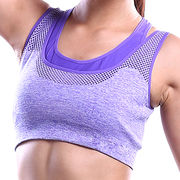 Hong Kong SAR Sports bras with move pad, women's U-shape one piece cup, stretched design
