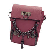 PU leather shoulder bags, PU Europe small styles with metal chain for ladies OEM & ODM are welcomed