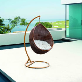 PE rattan wicker hanging swing chair from China (mainland)