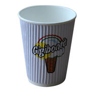 8oz printed ripple wall paper cup from China (mainland)