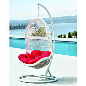 PE rattan wicker hanging swing chair from China (mainland)