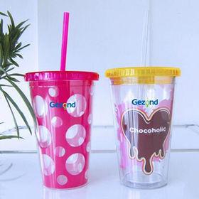 Double plastic mug from China (mainland)