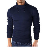 Slim Fit Men's knit pullover sweatshirt highcollar from China (mainland)