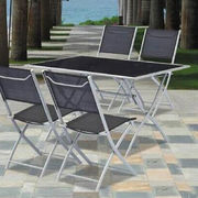 Aluminum folding table and chair garden furniture from China (mainland)