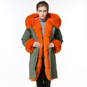 New design 2016 women real fox fur coat long style made in China