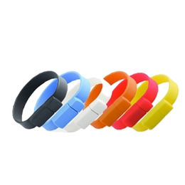Silicone Bracelet USB Flash Drive, Customized Logos are Accepted from Memorising Tech Limited