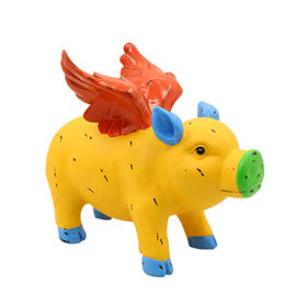 2016 new design Multi color Flying Pig Statue for Home Garden Decoration,Made of Reisn