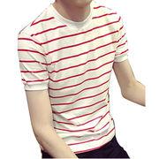 Men's plain crew neck T-shirt from China (mainland)