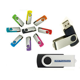 Promotional Swivel USB Flash Drive, Customized Logos are Accepted from Memorising Tech Limited