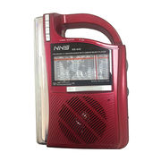 Portable FM/AM/SW Radio, with LED Emergency Light, Mp3 Player, SD Card, USB Slot