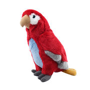 Lifelike Plush Parrot Toy Red Parrot Toy Manufacturer