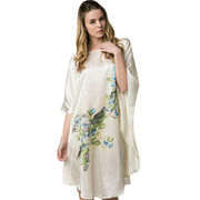 Women's custom-made 100% silk kaftan dress from China (mainland)