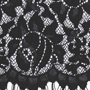 Black Flower Cotton Fabric for Women's Dress, Different Colors are available from Fujian Changle Xinmei Knitting lace Co.Ltd