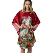 Women's custom-made 100% silk kaftan dress from China (mainland)
