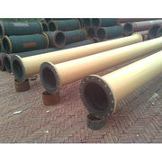 China Wear-resistant rubber lined steel pipe