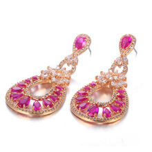 Elegant gold jewelry earring from China (mainland)