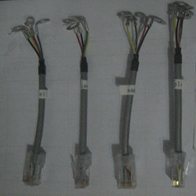 Wire Harness Cable Assembly RJ45 to Contacts Cat 5e from Suntek Electronics Co.,Ltd