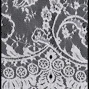 100% nylon eyelash lace trim for wedding dress, sold by the stripe