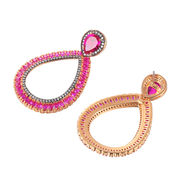 Rhodium plated earring from China (mainland)
