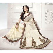 Printed cotton saree from India