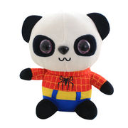 Customize super hero panda plush toy