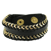 Bohemia Personality Handmade Woven Chain Bracelet,Made of Leather, Alloy, Small Orders are Accepted