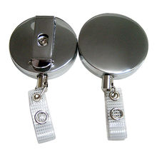 Stainless metal badge holder from Taiwan