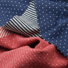 Reversible Interlock Fabric, 2-Tone Dot/Stripe for Sports or Leisure Wear from Lee Yaw Textile Co Ltd