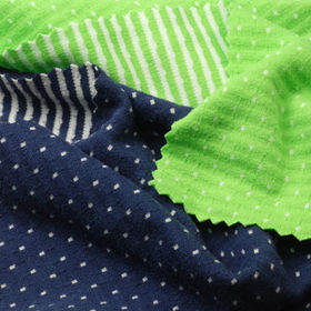 4-Way Stretch Fabric, 2-Tone Dot/Stripe Reversible Interlock from Lee Yaw Textile Co Ltd