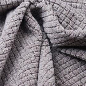 Heather Check Fleece Fabric from Taiwan