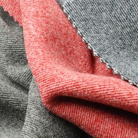 2-Tone Stripe Fleece Fabric from Taiwan